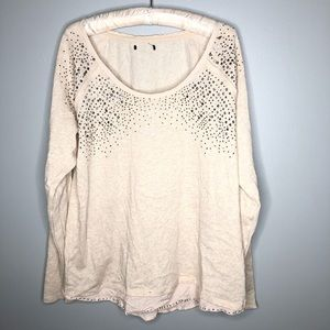 Maurices off white / cream long sleeve jewel top